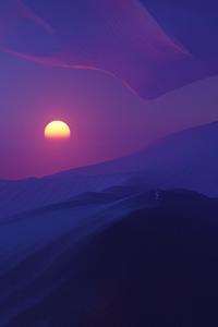 Sunset In Desert Dark Evening 5k