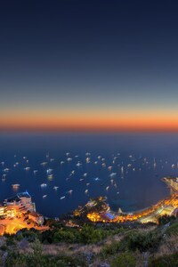 1242x2688 Sunset Landscape Monaco