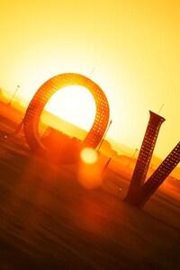 480x800 Sunset Love