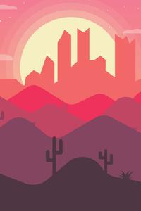 Sunset Mountains Art