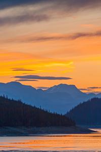 1440x2560 Sunset Mountains Lake 5k