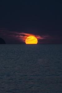 Sunset Ocean Azores 4k
