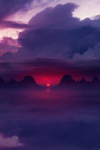 Sunset Ocean Digital Art
