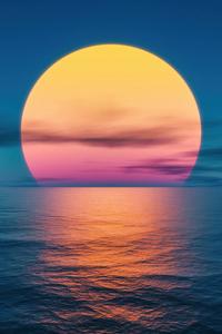 240x400 Sunset Ocean Lake 5k