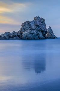 Sunset On An Asturian Beach 4k