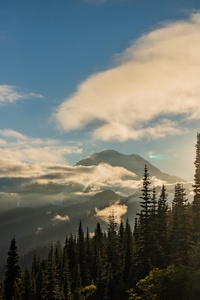 720x1280 Sunset On Mt Rainier Naches Peak Loop