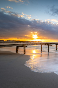 1440x2560 Sunset Pier Landscape 5k
