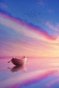 Sunset Scenery Minimal Art 4k