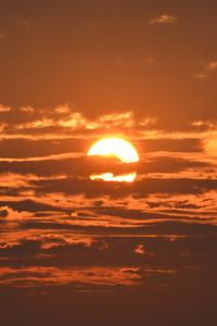 Sunset Under Clouds 8k