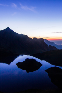 480x854 Sunset View From High Mountains 4k