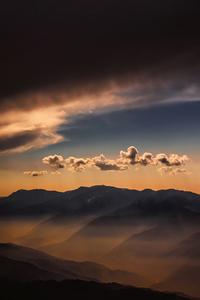 320x480 Sunset Weather Sky Clouds Landscape View 5k