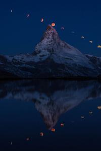 1125x2436 Super Moon Matterhorn 5k