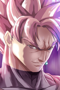 640x1136 Super Saiyan Rose Black