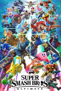 480x854 Super Smash Bros Ultimate 8k
