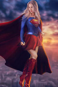 800x1280 Supergirl 2020 Art 4k