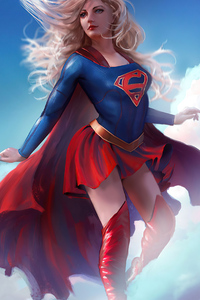 800x1280 Supergirl 4k 2020 Art