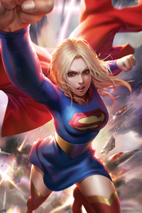 480x800 Supergirl 4k Artwork