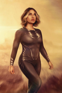 240x320 Supergirl Black Suit Cosplay 4k