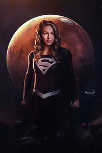 Supergirl Dark Suit 4k