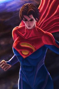 720x1280 Supergirl Fantasy Creature 5k