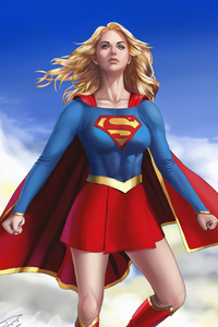 1080x2280 Supergirl Flying Above