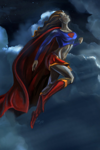 Supergirl In The Air