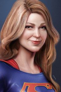 1242x2688 Supergirl Paint Sketch Art