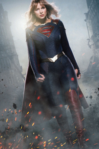 1080x2280 Supergirl Season 5 New Suit