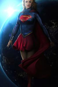 1280x2120 Supergirl Space 4k