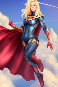 Supergirl Suit Art