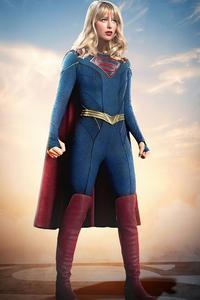 1242x2688 Supergirl Superman Cousin 4k