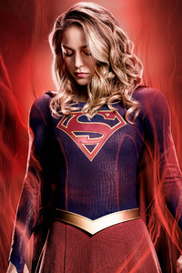 480x800 Supergirl Tv Series 4k Poster