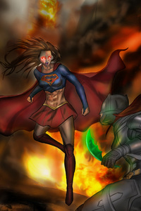 Supergirl Vs Batwoman