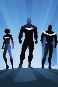 Superheroes Minimalism 4k