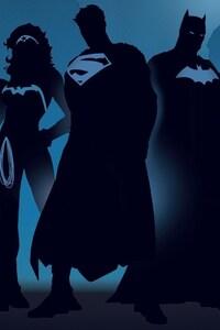 1125x2436 Superheroes Minimalism