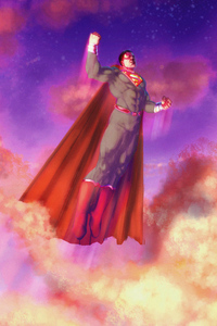 Superman 2020 Flying Above