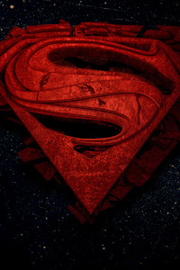 480x800 Superman 3d Logo 4k