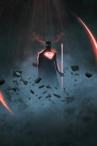 720x1280 Superman 4k Minimalism