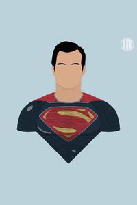 1080x1920 Superman 8k Minimalism
