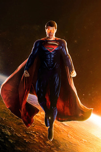 800x1280 Superman Above Earth 5k