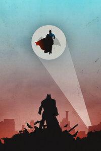 1125x2436 Superman And Bat