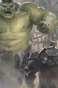 Superman And Batman Vs Hulk Artwork
