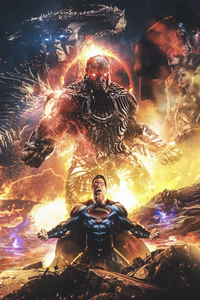 800x1280 Superman And Darkseid Zack Snyders Justice League 5k