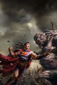 Superman And Demon Art
