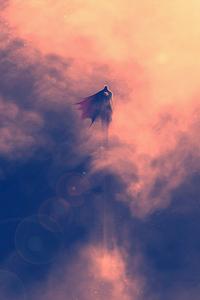 Superman Artwork Flying