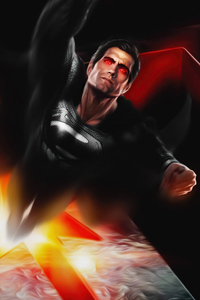 360x640 Superman Black Suit 5k