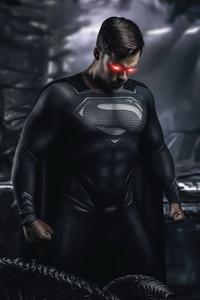 720x1280 Superman Black Suit Cosplay 4k