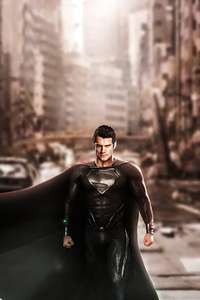 1440x2960 Superman Black Suit Justice League