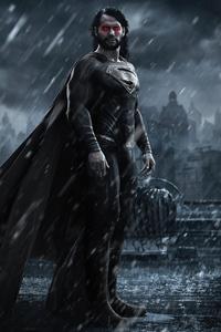 Superman Black Suit Long Hair