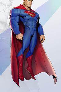 480x854 Superman Cartoon Minimal 4k